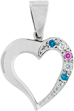 Diamond Set Heart