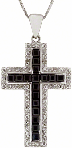 Black and White Diamond Cross