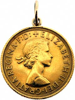 Plain Sovereign Pendant