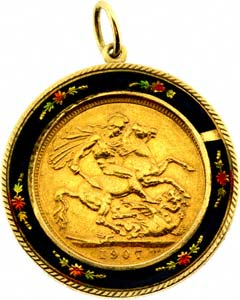 Enamelled Sovereign Pendant