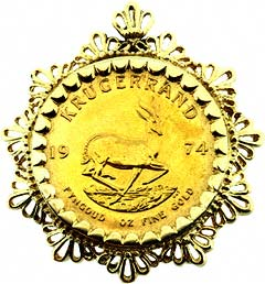 1974 Krugerrand Pendant