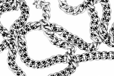 Platinum Curb Chain