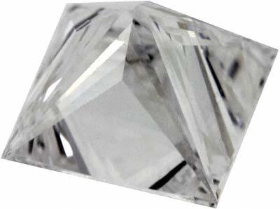 Underside View of Princess Cut Diamond