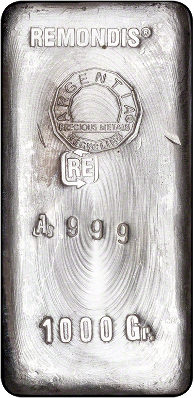 One Kilo Remondis Silver Bullion Bars