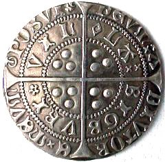 Reproduction Henry VI Groat Reverse