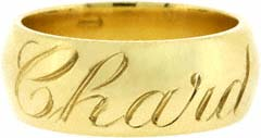 'Chard' Engraved Band