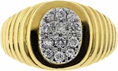 Gent's Diamond Signet Ring