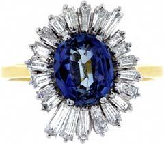 Italian Ceylon Sapphire & Diamond Cocktail Ring