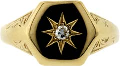 Gent's Diamond Set Signet Ring