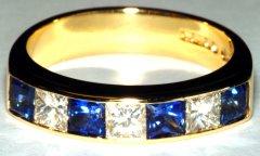 Sapphire & Princess Cut Diamond