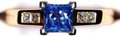 Princess Cut Ceylon Sapphire