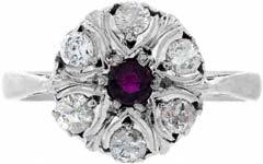 Ruby & Diamond Cluster