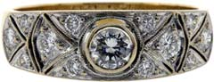 Diamond Set Dress Ring in 18ct Gold