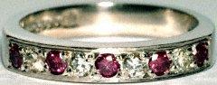 Purple & White Diamond Eternity Ring