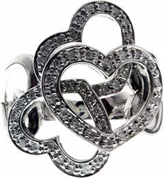 Triple Heart Diamond Dress Ring