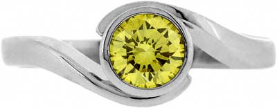 Fancy Yellow Diamond Solitaire Ring