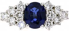 Second Hand Fancy Sapphire and Diamond Cluster