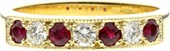 Ruby and Diamond Eternity Rings