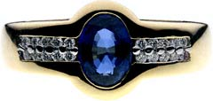 Modern Sapphire and Diamond Dress Ring