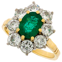 Emerald & Diamond Rings