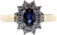 Second Hand Sapphire and Diamond Dress Ring