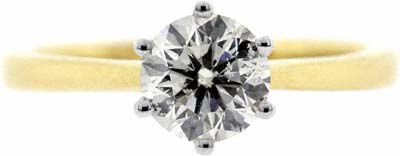 A Typical Diamond Engagement Ring