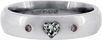 Pink & White Diamond Wedding Ring