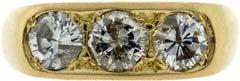 Gent's Three Stone Diamond Ring