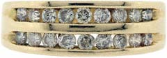 Double Row Channel Set Eternity Ring in 18ct Yellow Gold