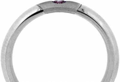 Pink Modern Brilliant Cut Diamonds and White Marquise Diamond Set Band