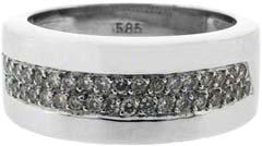 Double Row Diamond Dress Ring