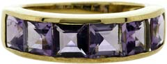 Amethyst Six Stone Ring