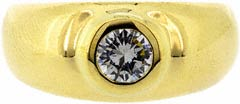 Gent's Diamond Ring in 18ct Yellow Gold