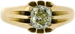 Gent's Solitaire Diamond Ring in 18ct Yellow Gold