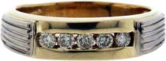 Second Hand Five Stone Diamond Ring in 14ct Gold