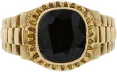 Gent's Sapphire Ring in 14ct Yellow Gold