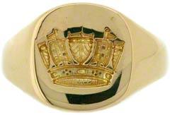 Gent's Seal Engraving Signet Ring