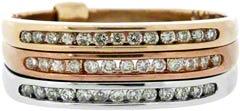 Triple Row Diamond Dress Ring