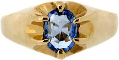 Gent's Ceylon Sapphire Ring in 9ct Yellow Gold