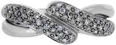 second hand 9ct diamond set twist ring