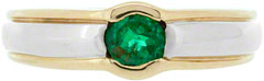 Gent's Emerald Ring in 14K Gold