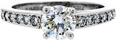 Diamond Solitaire in Platinum