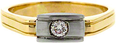 Gent's 18ct Gold Diamond Ring
