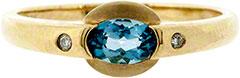 Topaz & Diamond Dress Ring
