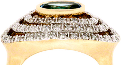 Topaz Dress Ring with Diamond Set Claws