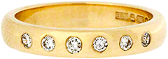Diamond Set Wedding Band in 9ct Yellow Gold
