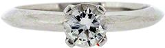 High Set Diamond Solitaire in Platinum