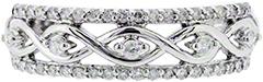 second hand 18ct diamond set wishbone