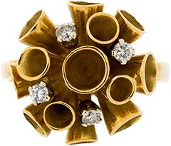 Second Hand 18ct Diamond Set Fancy Dress Ring