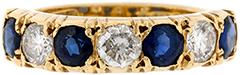 Second Hand Sapphire & Diamond Eternity Ring